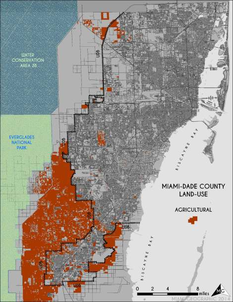 Agricultural Land-Use in Miami-Dade. Source: Matthew Toro. 2014.