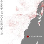 Los argentinos en Miami-Dade. Data Source: 2010 Decennial Census. Map Source: Matthew Toro. 2014.