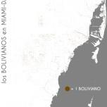 Los bolivianos en Miami-Dade. Data Source: 2010 Decennial Census. Map Source: Matthew Toro. 2014.