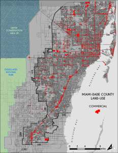 Commercial Land-Use in Miami-Dade. Source: Matthew Toro. 2014.