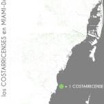 Los costarricenses en Miami-Dade. Data Source: 2010 Decennial Census. Map Source: Matthew Toro. 2014.