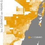 Los cubanos en Miami-Dade. Data Source: 2010 Decennial Census. Map Source: Matthew Toro. 2014.