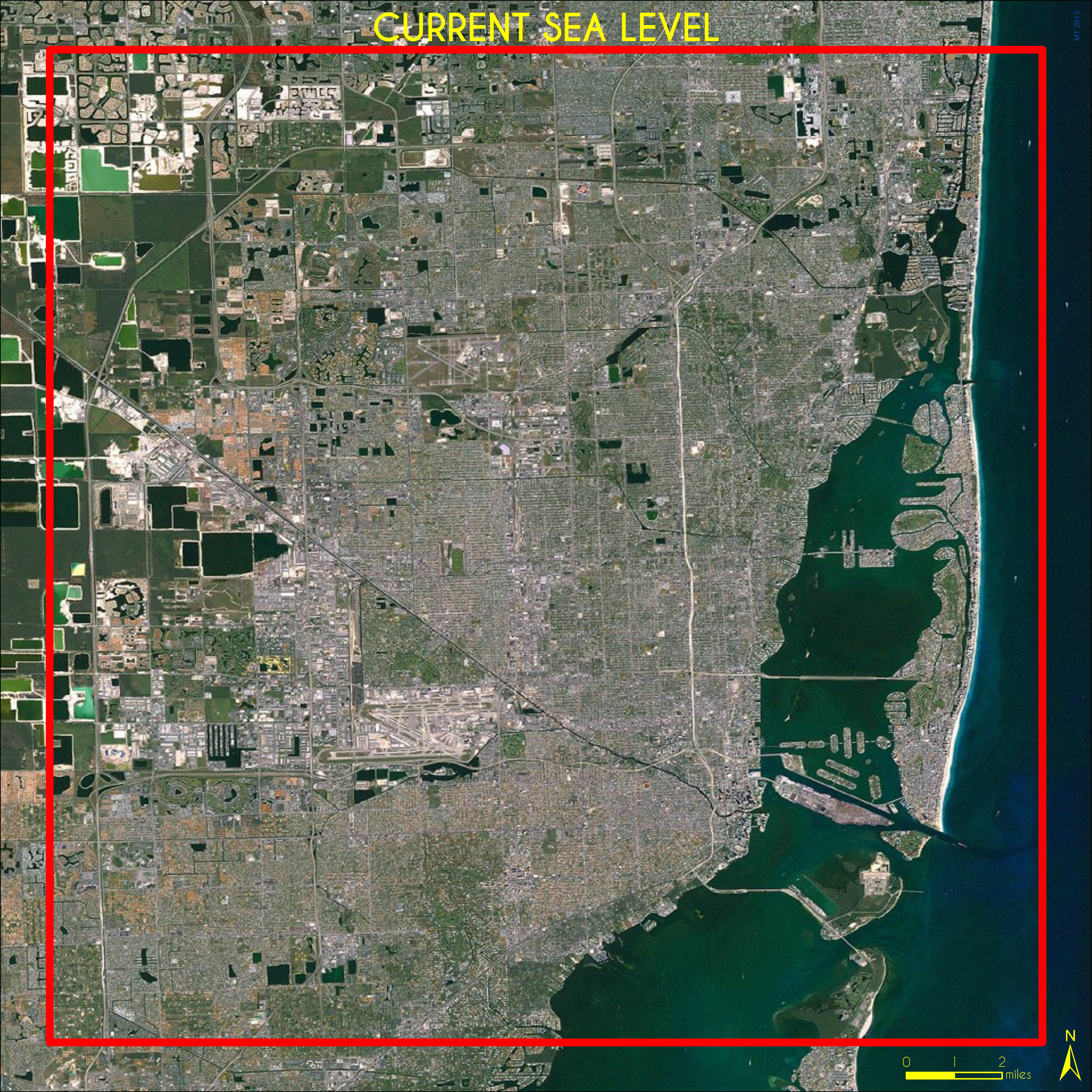 miami sea level rise map Maps Miami Sea Level Rise 1 6 Ft Miami Geographic miami sea level rise map