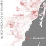 Los dominicanos en Miami-Dade. Data Source: 2010 Decennial Census. Map Source: Matthew Toro. 2014.