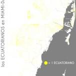 Los ecuatorianos en Miami-Dade. Data Source: 2010 Decennial Census. Map Source: Matthew Toro. 2014.