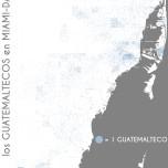 Los guatemaltecos en Miami-Dade. Data Source: 2010 Decennial Census. Map Source: Matthew Toro. 2014.