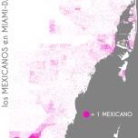 Los mexicanos en Miami-Dade. Data Source: 2010 Decennial Census. Map Source: Matthew Toro. 2014.