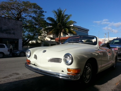 Miami Geo Quiz #4: Antique MG in Coral Gables. Source: Matthew Toro. April 5, 2014.