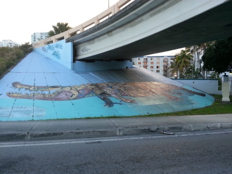 Miami Geo Quiz #6: Gator under a Bridge. Source: Matthew Toro. April 17, 2014.