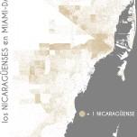 Los nicaragüenses en Miami-Dade. Data Source: 2010 Decennial Census. Map Source: Matthew Toro. 2014.