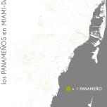 Los panameños en Miami-Dade. Data Source: 2010 Decennial Census. Map Source: Matthew Toro. 2014.