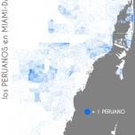 Los peruanos en Miami-Dade. Data Source: 2010 Decennial Census. Map Source: Matthew Toro. 2014.