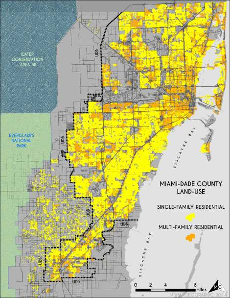 Residential Land-Use in Miami-Dade. Source: Matthew Toro. 2014.