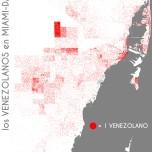 Los venezolanos en Miami-Dade. Data Source: 2010 Decennial Census. Map Source: Matthew Toro. 2014.