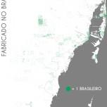 Fabricado no Brasil. Data Source: 2012 American Community Survey, 5-yr Estimate. Map Source: Matthew Toro. 2014.