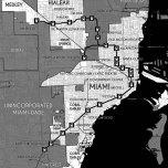 Miami's Metrorail System and Traversed Municipalities. Source: Matthew Toro. 2014.