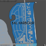 Miami-Dade Municipality: Bal Harbour, 2014. Source: Matthew Toro. 2014. [Note: Data used carry some minor geometric inaccuracies/errors. Not to be used for legal purposes.]