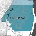 Miami-Dade Municipality: Cutler Bay, 2014. Source: Matthew Toro. 2014. [Note: Data used carry some minor geometric inaccuracies/errors. Not to be used for legal purposes.]