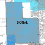 Miami-Dade Municipality: Doral, 2014. Source: Matthew Toro. 2014. [Note: Data used carry some minor geometric inaccuracies/errors. Not to be used for legal purposes.]