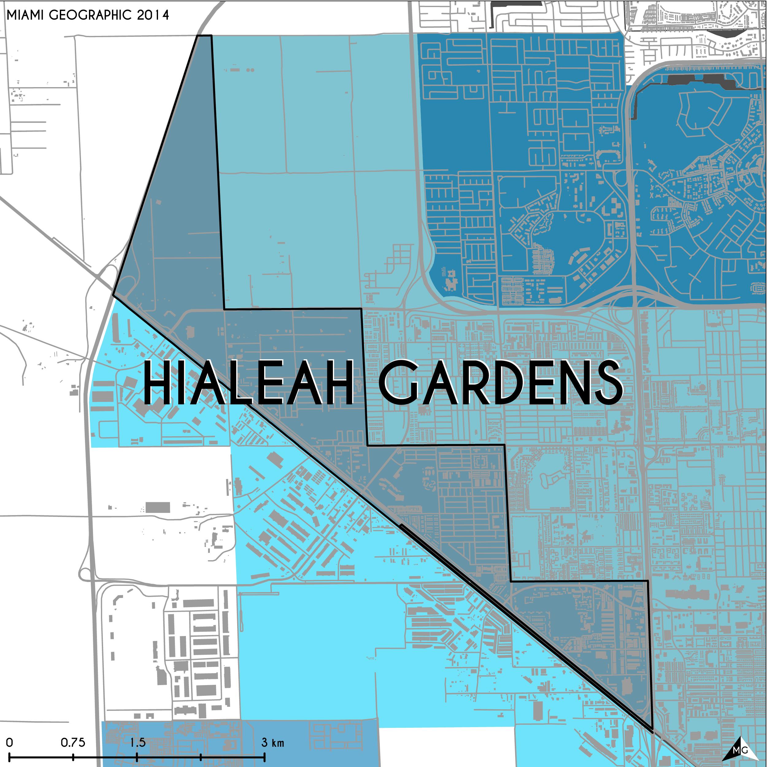 Hialeah Florida Map.Maps Municipalities Of Miami Dade County Miami Geographic