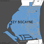 Miami-Dade Municipality: Key Biscayne, 2014. Source: Matthew Toro. 2014. [Note: Data used carry some minor geometric inaccuracies/errors. Not to be used for legal purposes.]