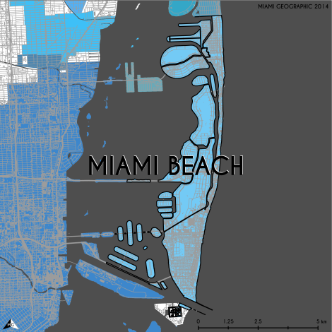 Miami-Dade Municipality: Miami Beach, 2014. Source: Matthew Toro. 2014. [Note: Data used carry some minor geometric inaccuracies/errors. Not to be used for legal purposes.]