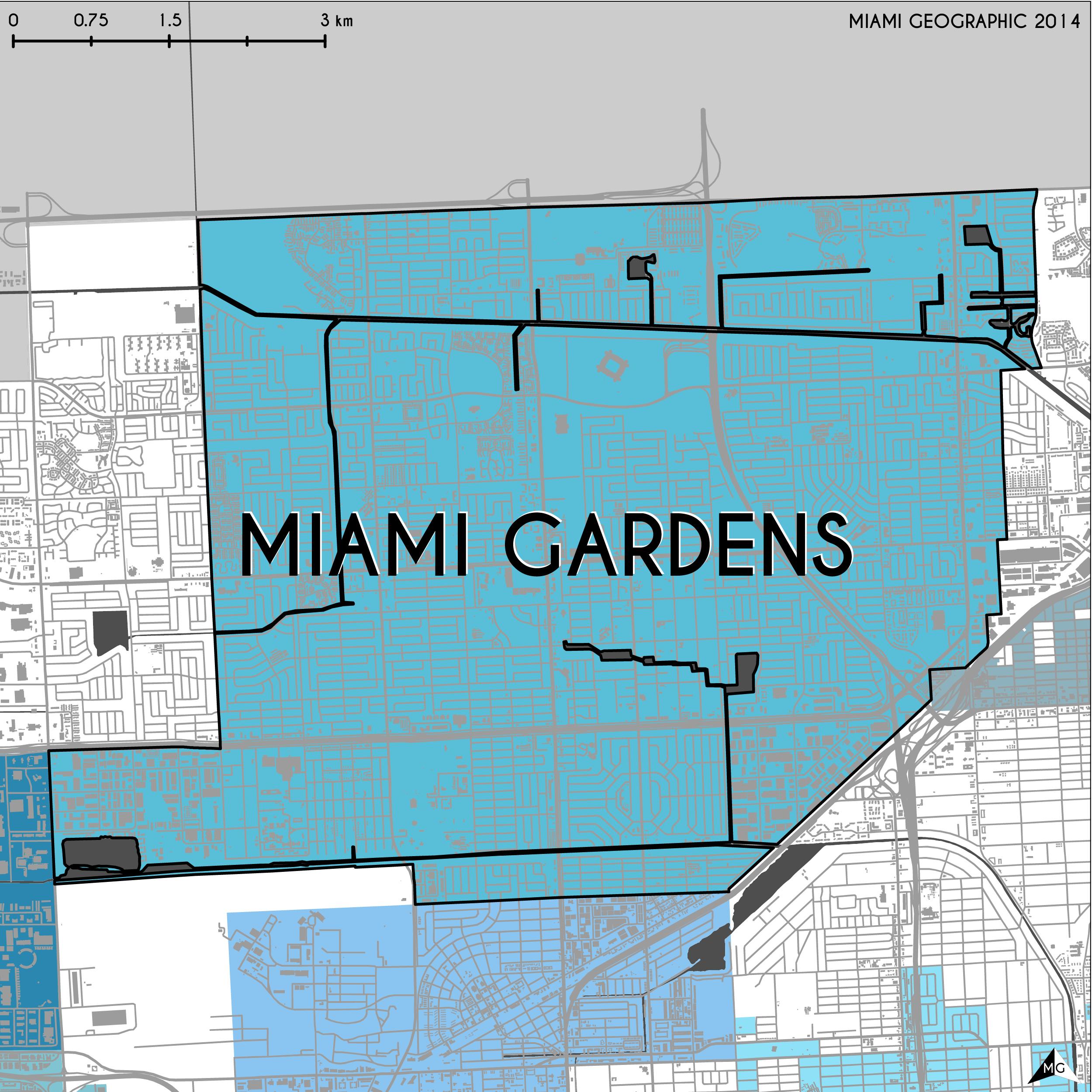 Maps Municipalities of MiamiDade County Miami Geographic