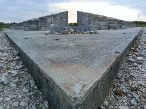 Miami Geo Quiz #15: Columns of Remembrance -- Photo A. Source: Matthew Toro. September 25, 2014.
