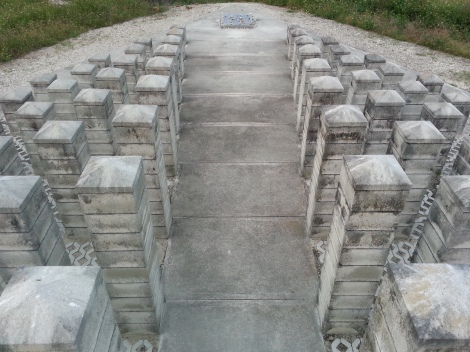Miami Geo Quiz #15: Columns of Remembrance -- Photo B. Source: Matthew Toro. September 25, 2014.