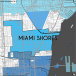 Miami-Dade Municipality: Miami Shores, 2014. Source: Matthew Toro. 2014. [Note: Data used carry some minor geometric inaccuracies/errors. Not to be used for legal purposes.]