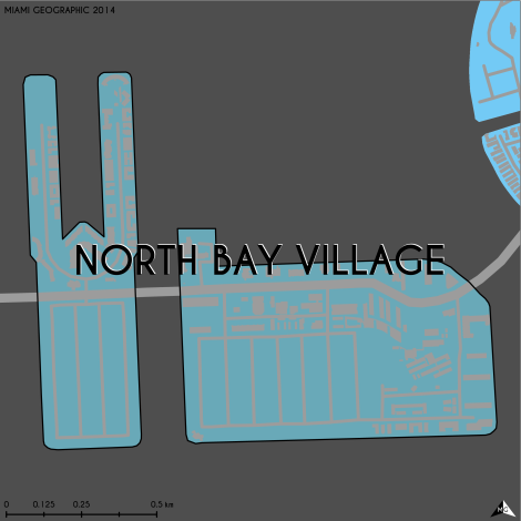 Miami-Dade Municipality: North Bay Village, 2014. Source: Matthew Toro. 2014. [Note: Data used carry some minor geometric inaccuracies/errors. Not to be used for legal purposes.]