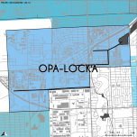 Miami-Dade Municipality: Opa-Locka, 2014. Source: Matthew Toro. 2014. [Note: Data used carry some minor geometric inaccuracies/errors. Not to be used for legal purposes.]