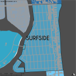 Miami-Dade Municipality: Surfside, 2014. Source: Matthew Toro. 2014. [Note: Data used carry some minor geometric inaccuracies/errors. Not to be used for legal purposes.]