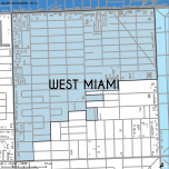 Miami-Dade Municipality: West Miami, 2014. Source: Matthew Toro. 2014. [Note: Data used carry some minor geometric inaccuracies/errors. Not to be used for legal purposes.]