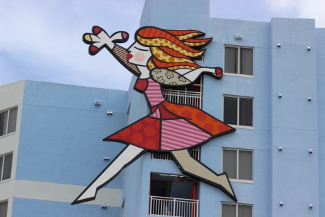 Miami Geo Quiz #20: Britto on the Building. Source: Matthew Toro. July 4, 2014.