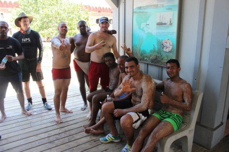 While exhausted and sandy, the men were in great spirits and good health. Photo Source: Matthew Toro. August 4, 2015.