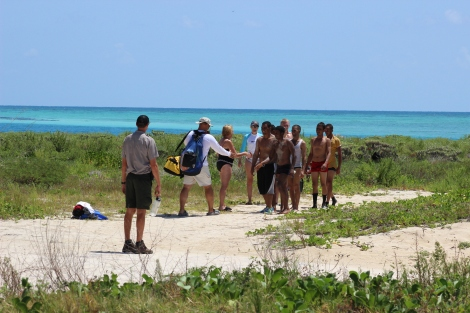 Tourists at Dry Tortugas National Park greet some of the Cubans who made it to dry land. Photo Source: Matthew Toro. August 4, 2015.