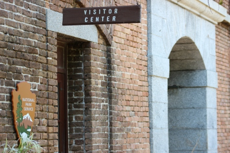 The visitor center at Dry Tortugas National Park. Photo Source: Matthew Toro. August 4, 2015.