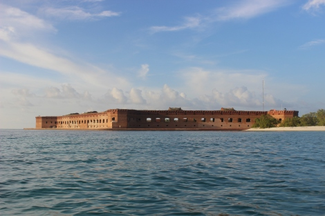 A View of Fort Jefferson from the Southwest. Photo Source: Matthew Toro. August 5, 2015.